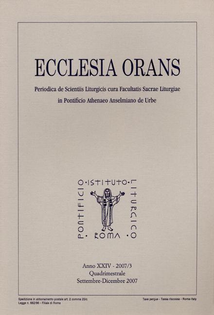 Ecclesia Orans 24 (2007/3)