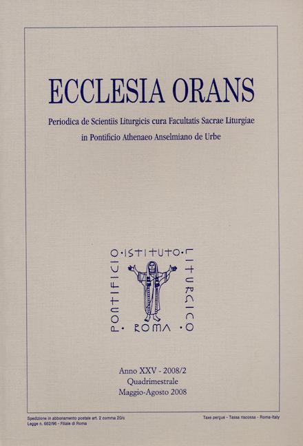 Ecclesia Orans 25 (2008/2)