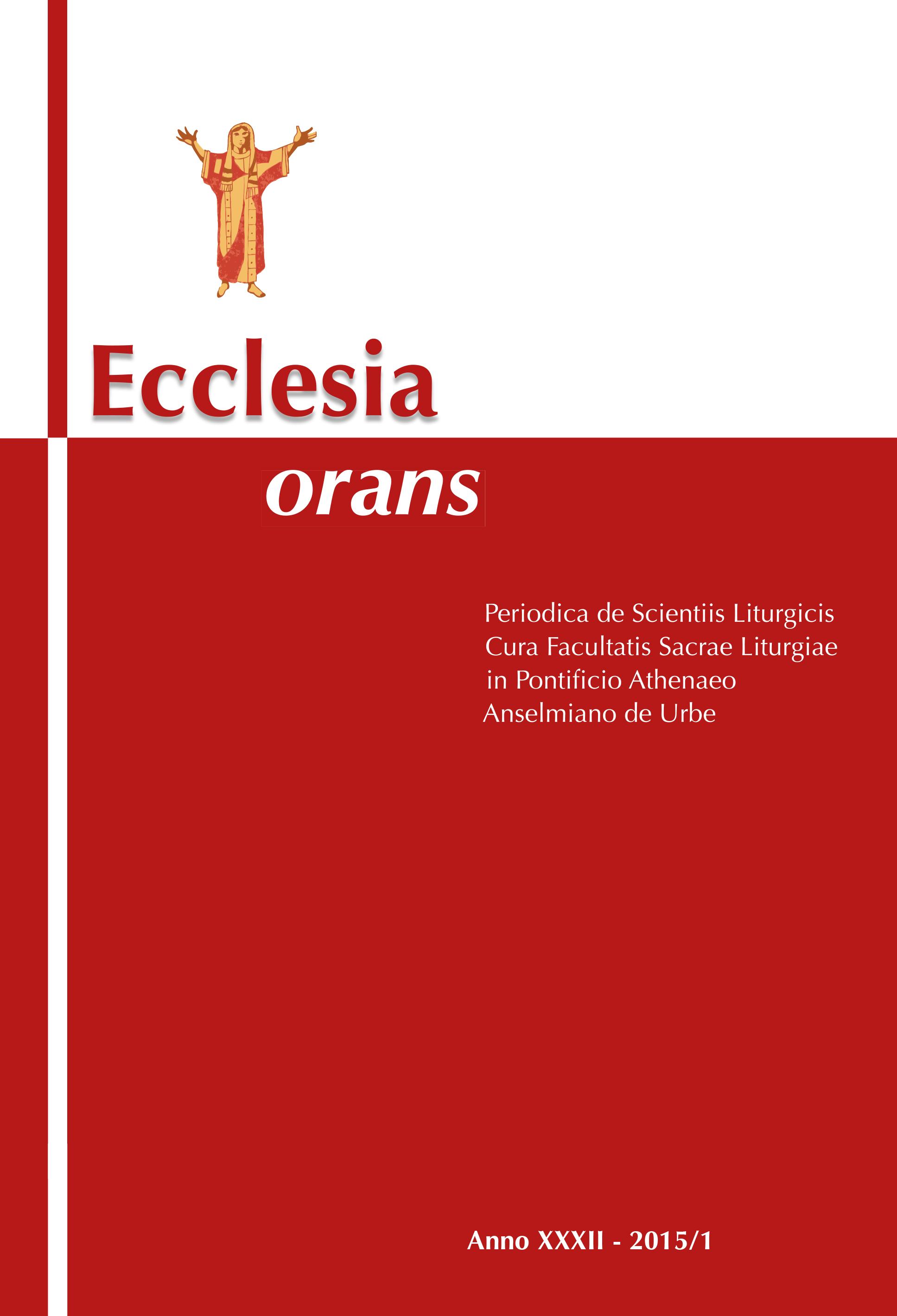 Ecclesia Orans 32 (2015/1)