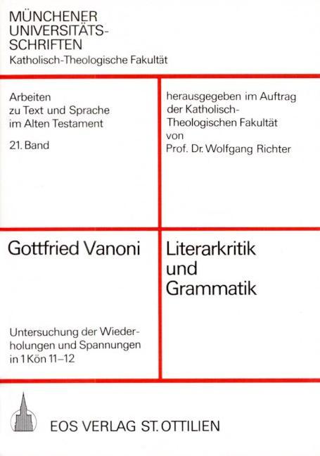 Literarkritik und Grammatik