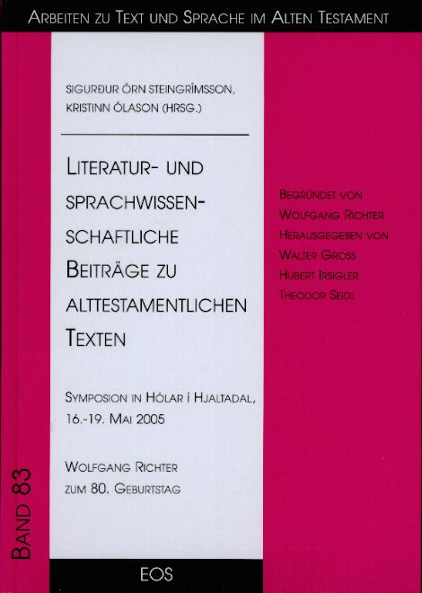 Literatur- und sprachwissenschaftliche Beiträge zu alttestamentlichen Texten