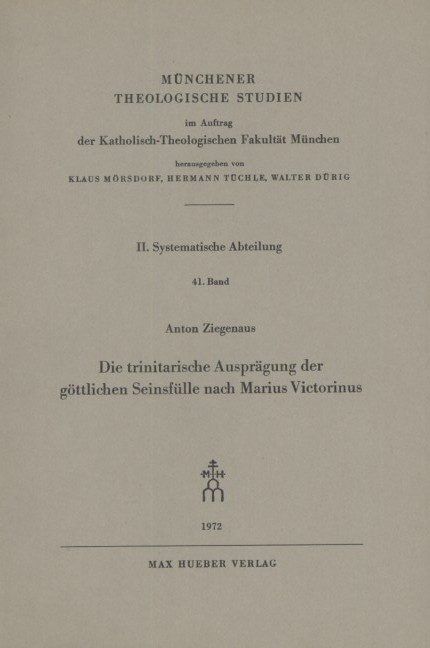 Die Trinitätslehre des Hugo von St. Viktor