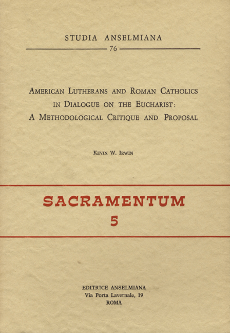 American Lutherans and Roman Catholics in Dialogue on the Eucharist