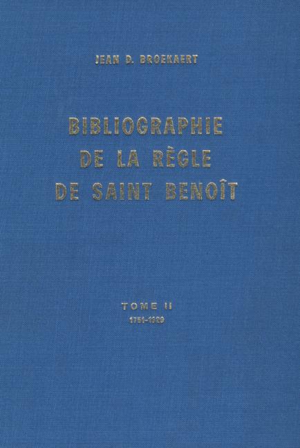 Bibliographie de la Règle de saint Benoit