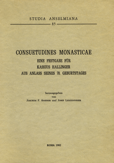 Consuetudines monasticae