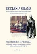Ecclesia Orans 29 (2012)