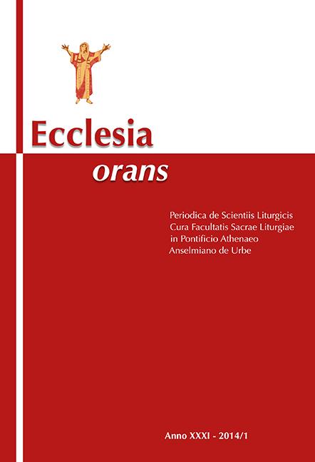 Ecclesia Orans 31 (2014/1)