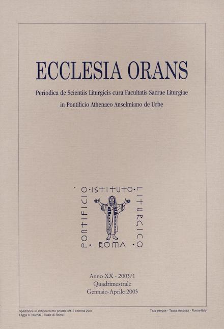 Ecclesia Orans 20 (2003/1)