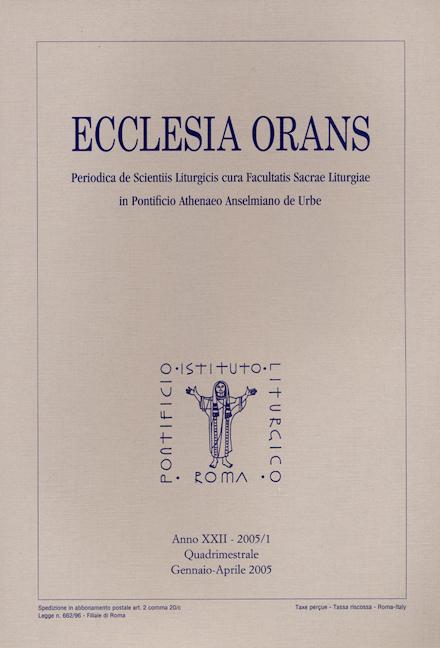 Ecclesia Orans 22 (2005/1)