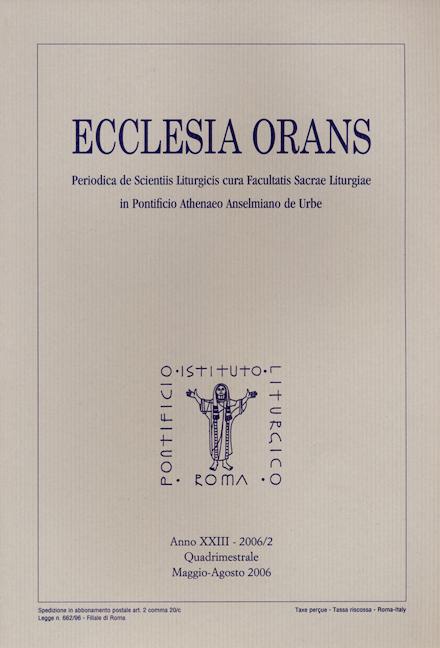 Ecclesia Orans 23 (2006/2)
