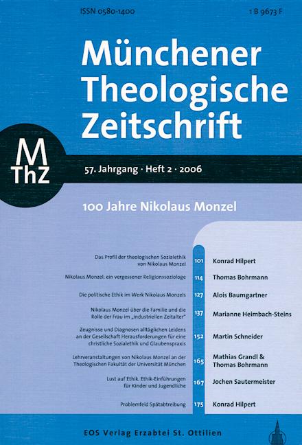 Münchener Theologische Zeitschrift 57 (2006/2)