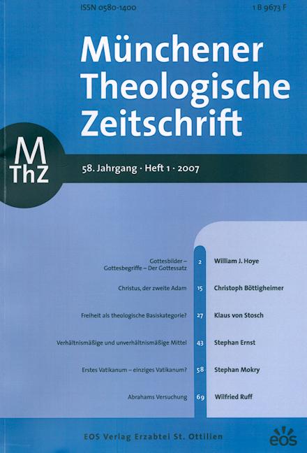 Münchener Theologische Zeitschrift 58 (2007/1)