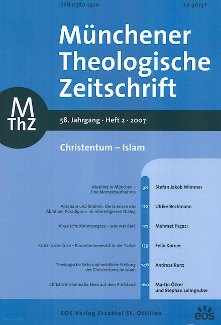 Münchener Theologische Zeitschrift 58 (2007/2)