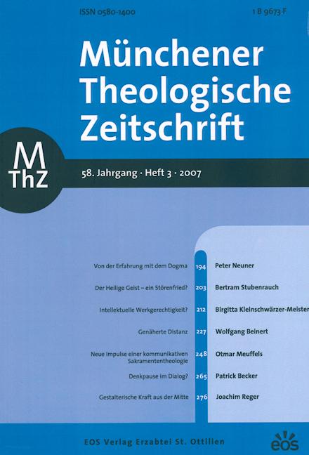Münchener Theologische Zeitschrift 58 (2007/3)
