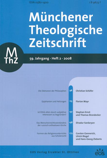 Münchener Theologische Zeitschrift 59 (2008/2)