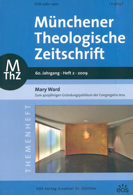 Münchener Theologische Zeitschrift 60 (2009/2)