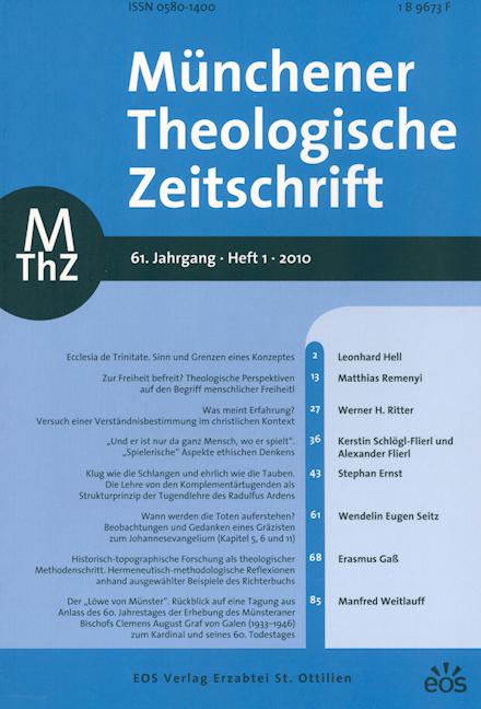 Münchener Theologische Zeitschrift 61 (2010/1)