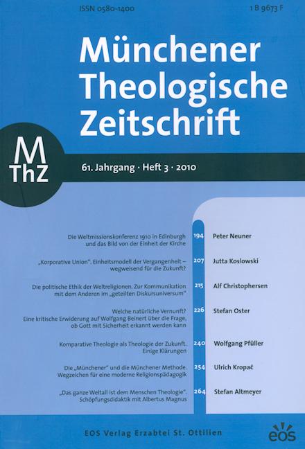 Münchener Theologische Zeitschrift 61 (2010/3)