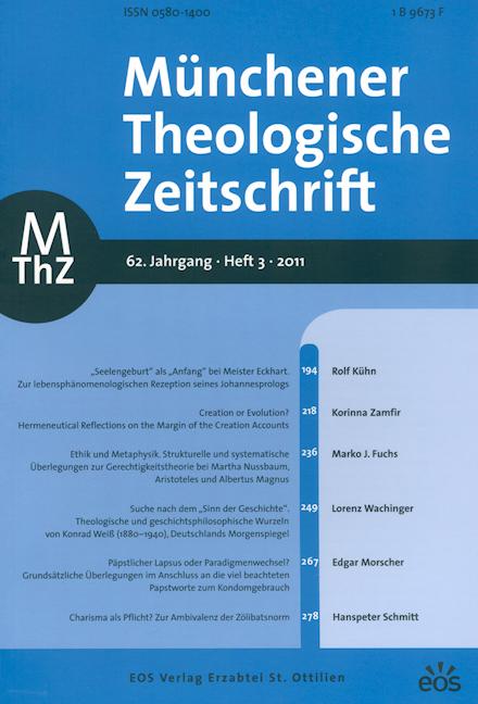 Münchener Theologische Zeitschrift 62 (2011/3)