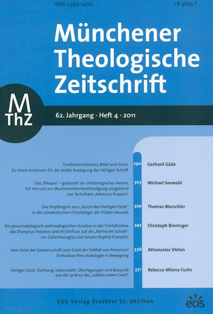 Münchener Theologische Zeitschrift 62 (2011/4)