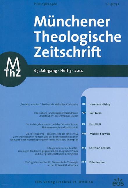 Münchener Theologische Zeitschrift 65 (2014/3)
