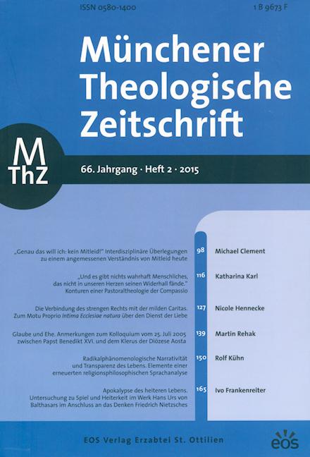 Münchener Theologische Zeitschrift 66 (2015/2)