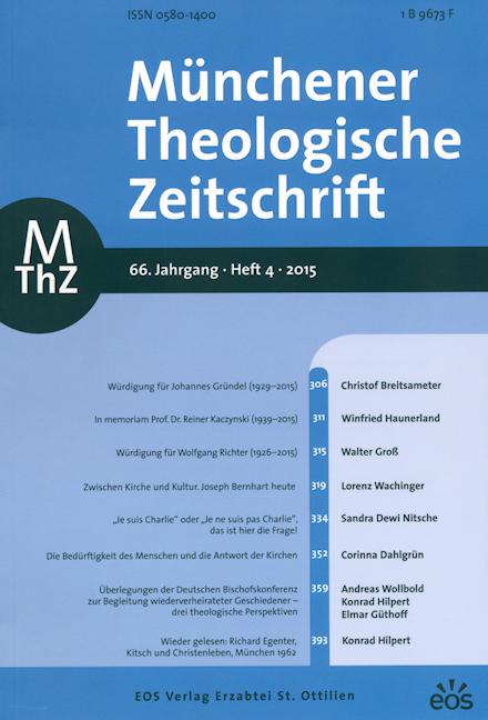 Münchener Theologische Zeitschrift 66 (2015/4)