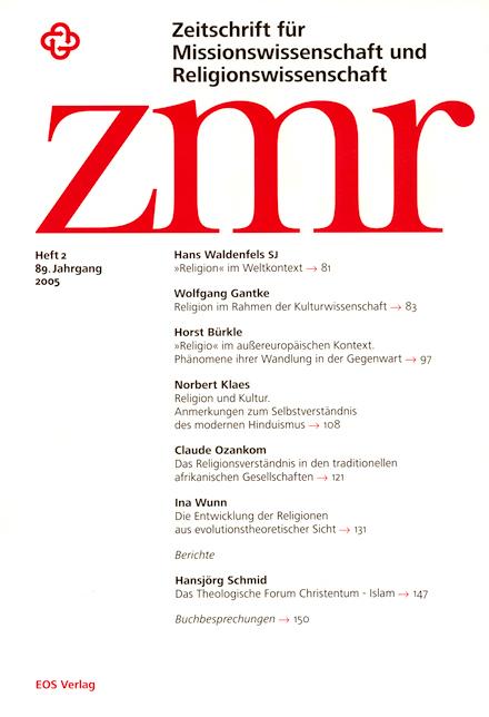 Zeitschrift für Missionswissenschaft und Religionswissenschaft 89 (2005/2)