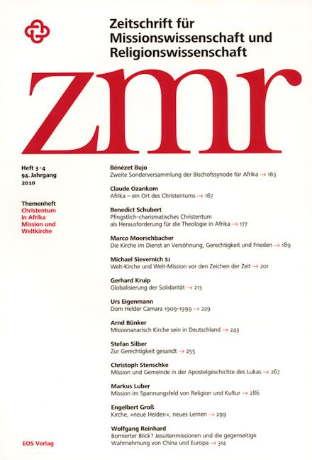 Zeitschrift für Missionswissenschaft und Religionswissenschaft 94 (2010/3-4)