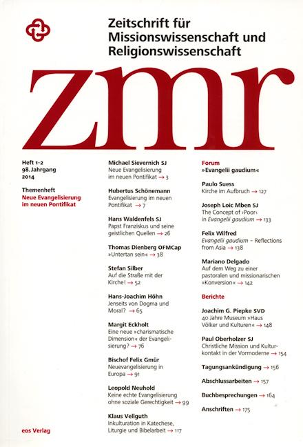 Zeitschrift für Missionswissenschaft und Religionswissenschaft 98 (2014/1-2)