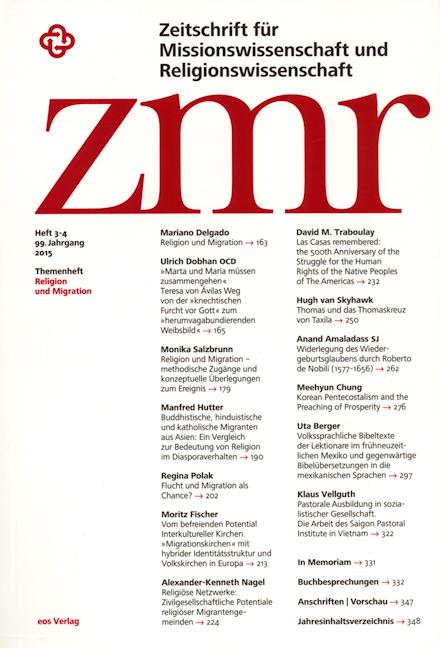 Zeitschrift für Missionswissenschaft und Religionswissenschaft 99 (2015/3-4)