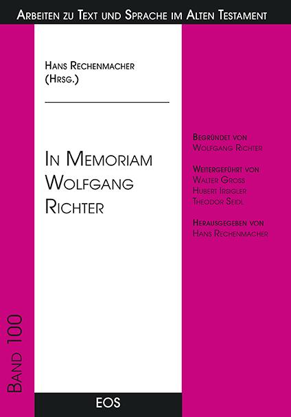 In Memoriam Wolfgang Richter
