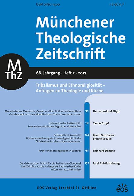 Münchener Theologische Zeitschrift 68 (2017/2)