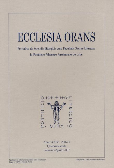 Ecclesia Orans 24 (2007/1)