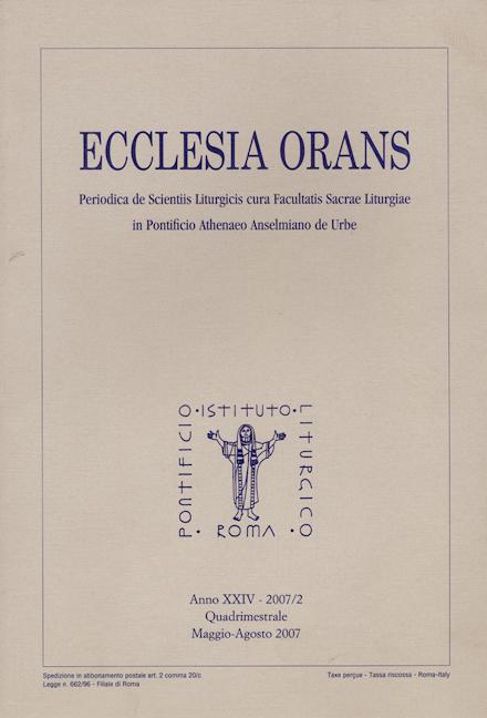 Ecclesia Orans 24 (2007/2)