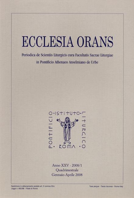 Ecclesia Orans 25 (2008/1)