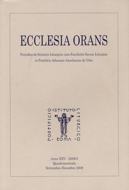 Ecclesia Orans 25 (2008/3)