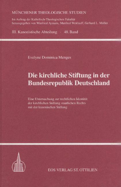 Die kirchliche Stiftung in der Bundesrepublik Deutschland