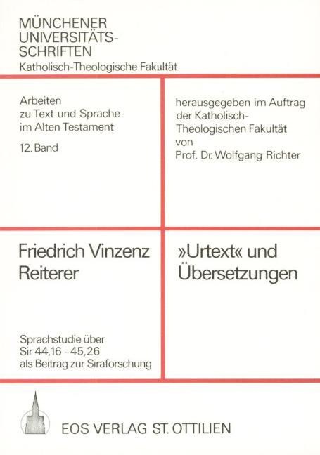 """""""Urtext"""" und Übersetzungen"""