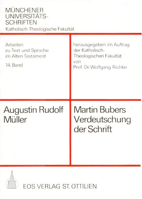 Martin Bubers Verdeutschung der Schrift