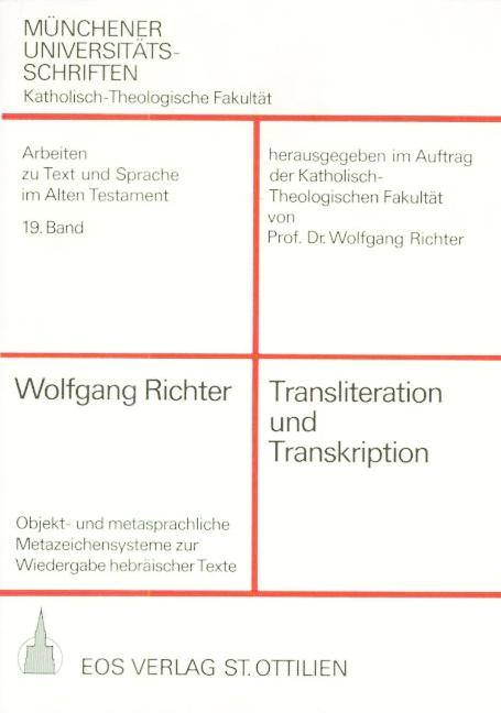 Transliteration und Transkription