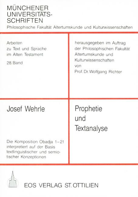 Prophetie und Textanalyse