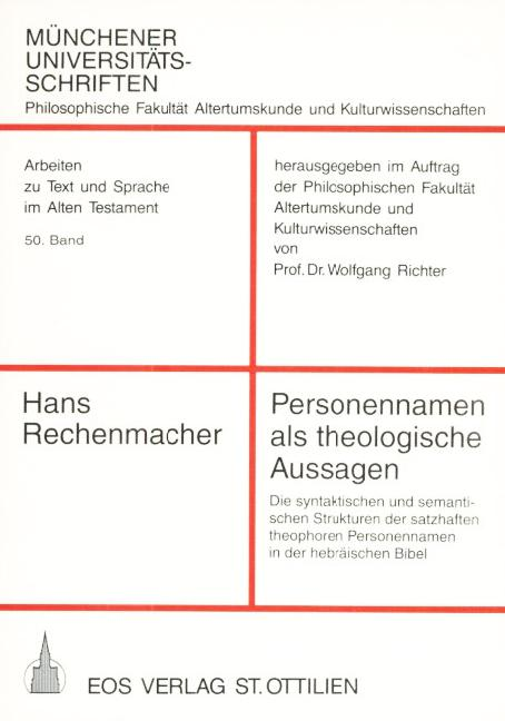 Personennamen als Theologische Aussagen