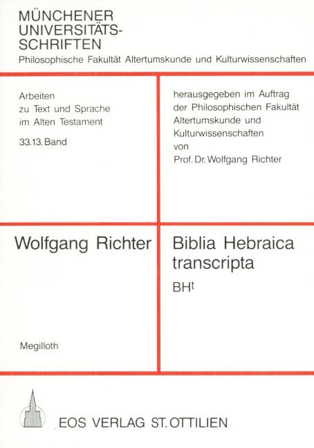 Biblia Hebraica transcripta (Bht)