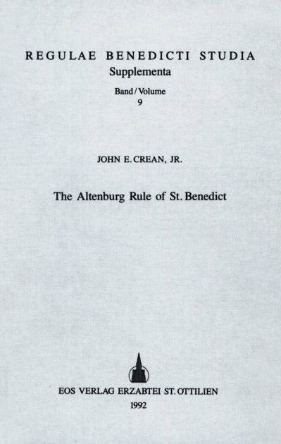 The Altenburg Rule of St. Benedict