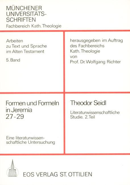 Formen und Formeln in Jeremia 27-29