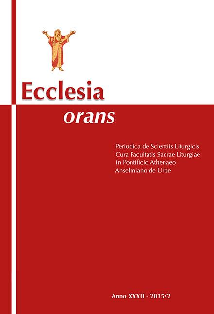 Ecclesia Orans 32 (2015/2)