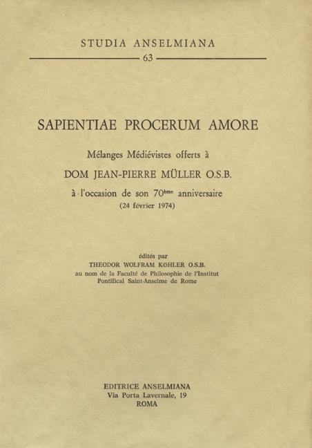 Sapientiae procerum amore