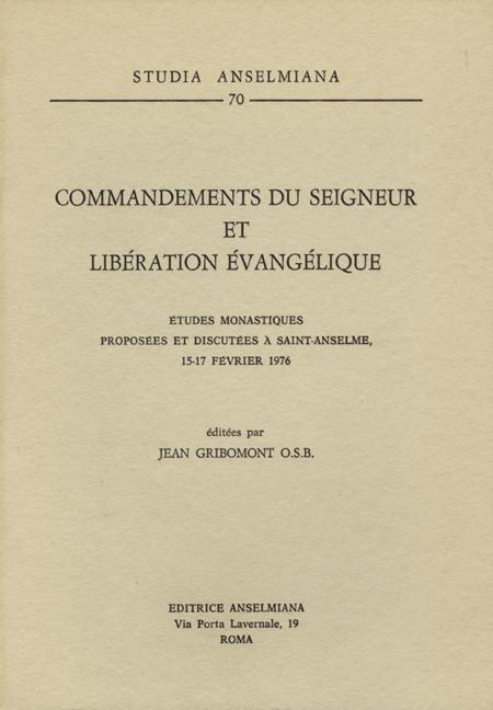 Commandements du Seigneur et libération évangélique