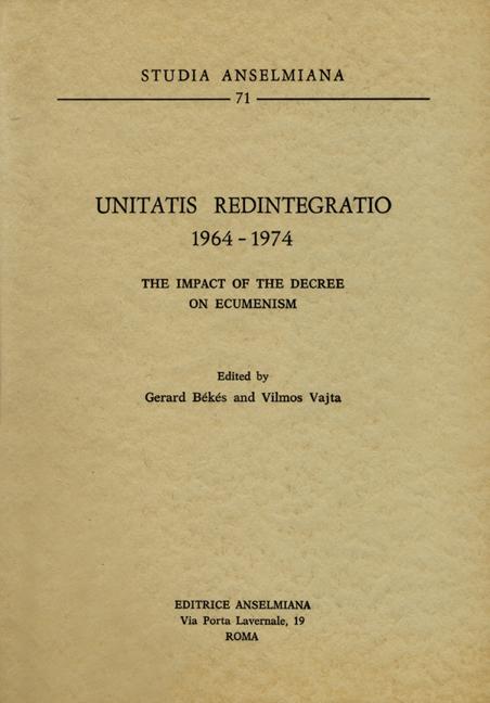 Unitatis Redintegratio 1964–1974
